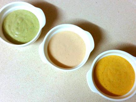 טחינה בשלושה צבעים