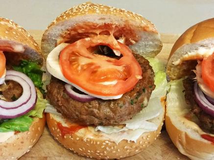 המבורגר בצל ופטריות