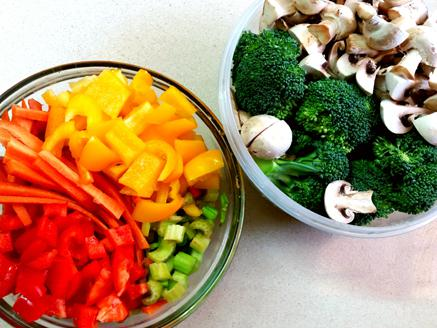 ירקות מוקפצים במחבת ברוטב סויה