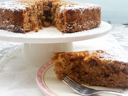 עוגת תפוחים ואגוזים לפסח