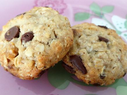 עוגיות שיבולת שועל ושוקולד צ`יפס טבעוניות