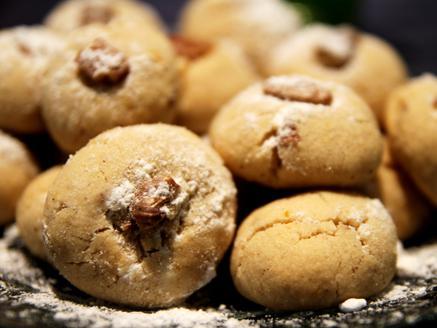 עוגיות חמאה, טחינה, פקאן ותבלינים