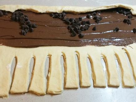 בצק שמרים עם שוקולד