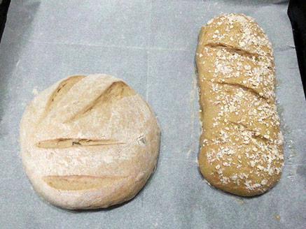 לחם כפרי מקמח מלא עם תערובת גרעינים