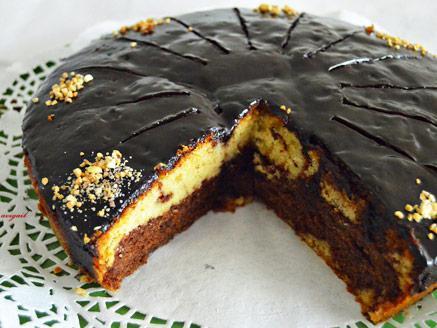 עוגת חצי נוטלה חצי קוקוס
