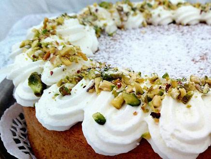 עוגת פיסטוק וקרם מסקרפונה