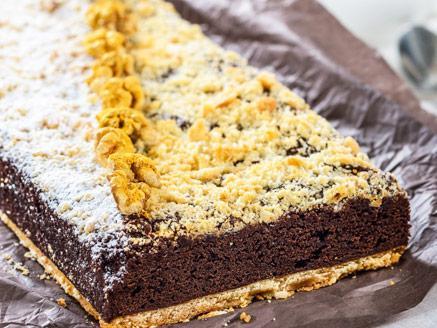 עוגת בראוניז פירורים