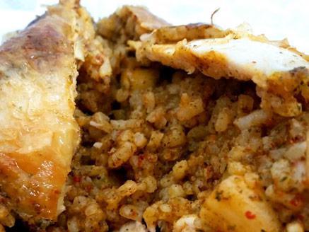 כרעיים ממולאים באורז ושקדים