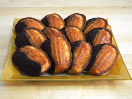 עוגיות מדלן בטעם שוקולד-דבש