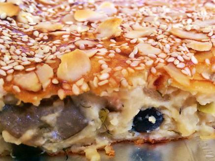 פשטידת גבינות, זיתים ושמיר