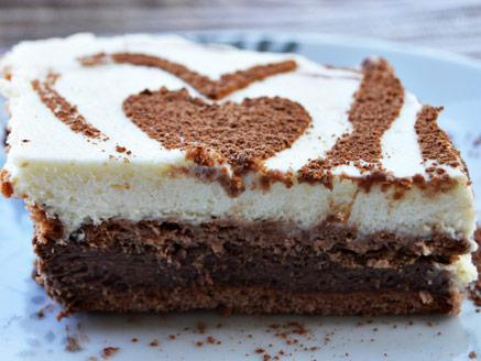 עוגת ביסקוויטים נוטלה וניל