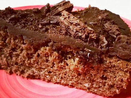 עוגת שוקולד ומקופלת טבעונית