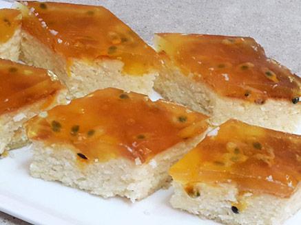 עוגת גבינה עם פסיפלורה