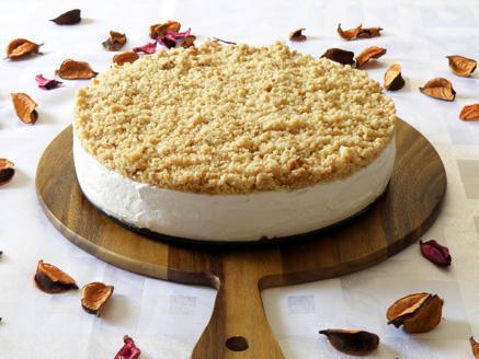 עוגת גבינה קרה עם פירורים