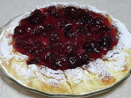 עוגת גבינה עם ג`לי ופטל