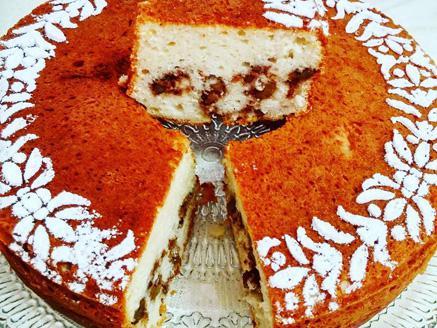 עוגת מייפל עם אגוזים