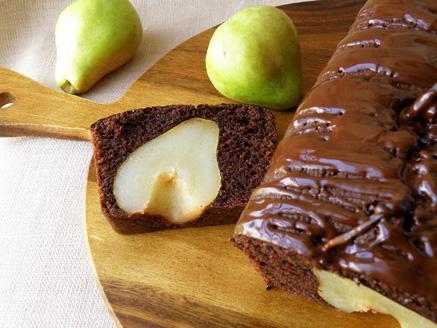 עוגת שוקולד ואגסים