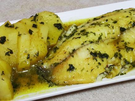 פילה אמנון ברוטב עם תפוחי אדמה