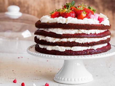 עוגת קטיפה אדומה ליום האהבה