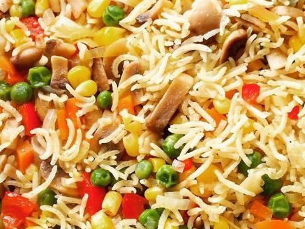 אורז בסמטי עם ירקות
