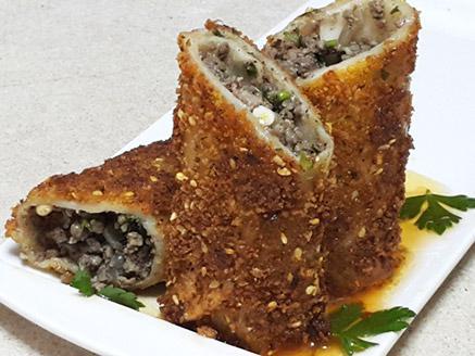 טורטייה מטוגנת במילוי בשר טחון