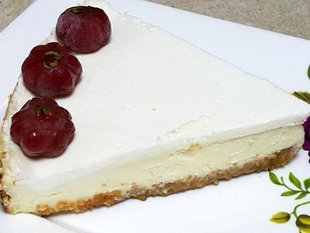 עוגת גבינה ללא תוספת סוכר