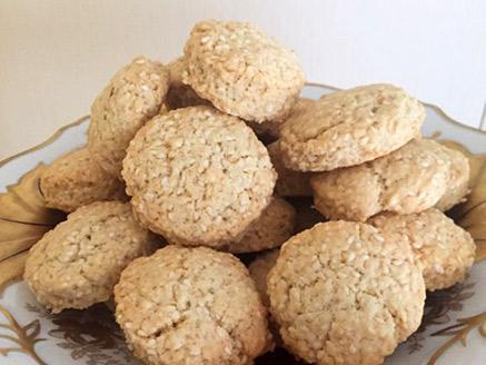עוגיות שומשום ב- 5 דקות עבודה