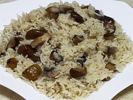 אורז עם ערמונים ופטריות
