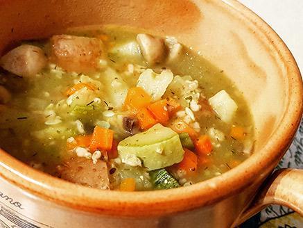מרק ירקות וקוואקר ללא גלוטן