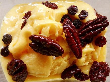 גלידת מנגו בננה טבעונית