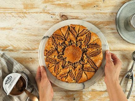עוגת שמרים שוקולד בצורת שמש
