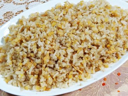 אורז עם עדשים בסגנון עיראקי