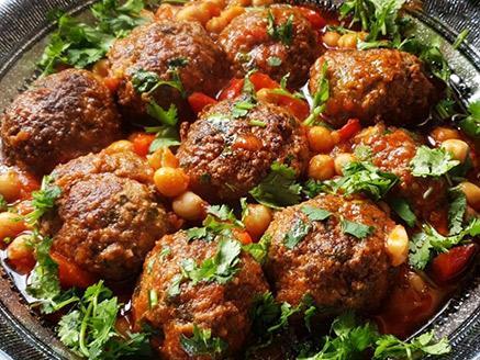 כדורי בשר עם גרגירי חומוס