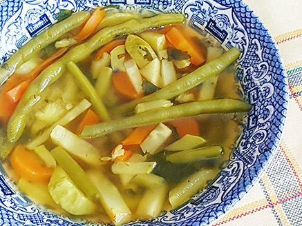 מרק ירקות עם שעועית ירוקה