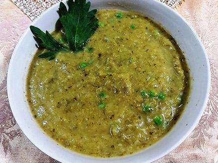 מרק ירקות ירוקים