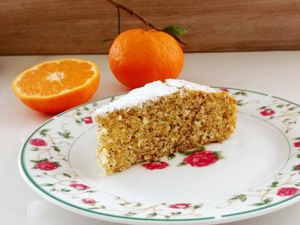 עוגת קלמנטינות, פרג ושמן זית