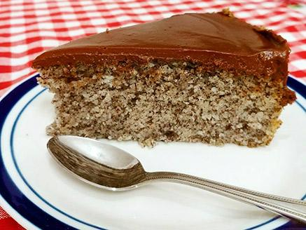 עוגת פרג, קוקוס ושוקולד טבעונית