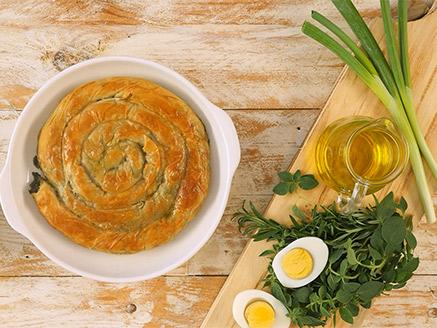 לאפות ולהגיש: מאפה יווני מבצק פילו - ירקות ירוקים
